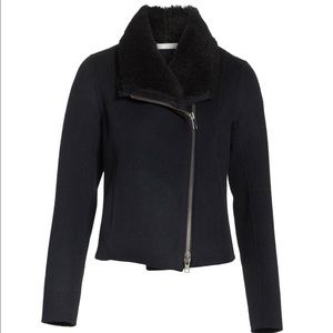 VINCE Shearling Double Face Wool Jacket